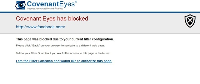 Covenant eyes review Blocked website