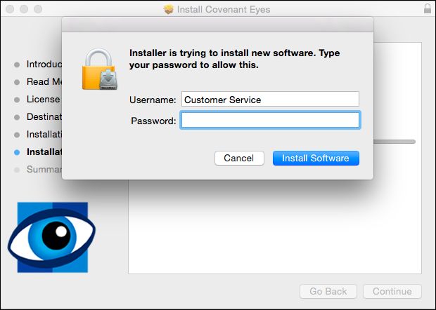 Covenant eyes review Mac install page