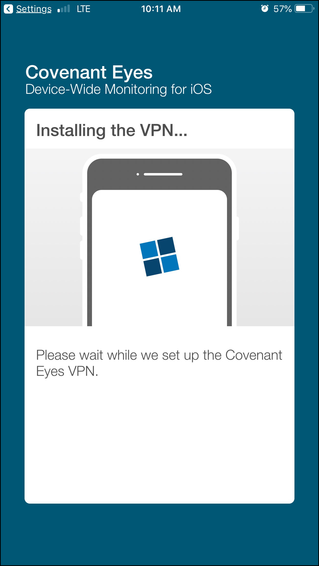 Covenant eyes review Android install screen